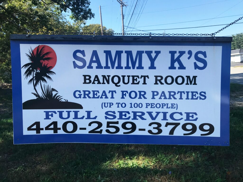 Sammy K's Banquet Room business banner